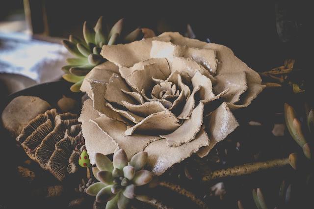 Flor de Cerâmica em Paper clay