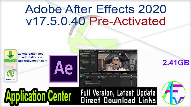 Adobe After Effects 2020 v17.5.0.40 Pre-Activated
