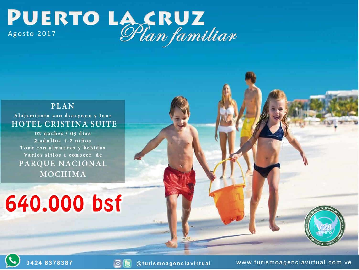 Puerto la cruz plan familiar agosto 2017