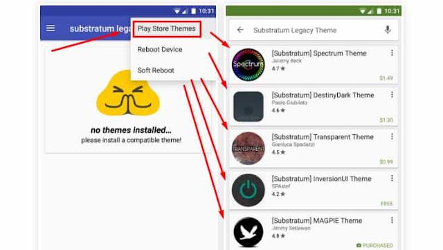silahkan pilih theme kesukaan kamu dari playstore google