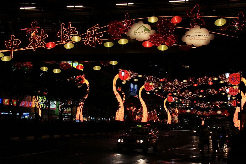 Mid-Autumn Festival street decoration in Chinatown in 2009