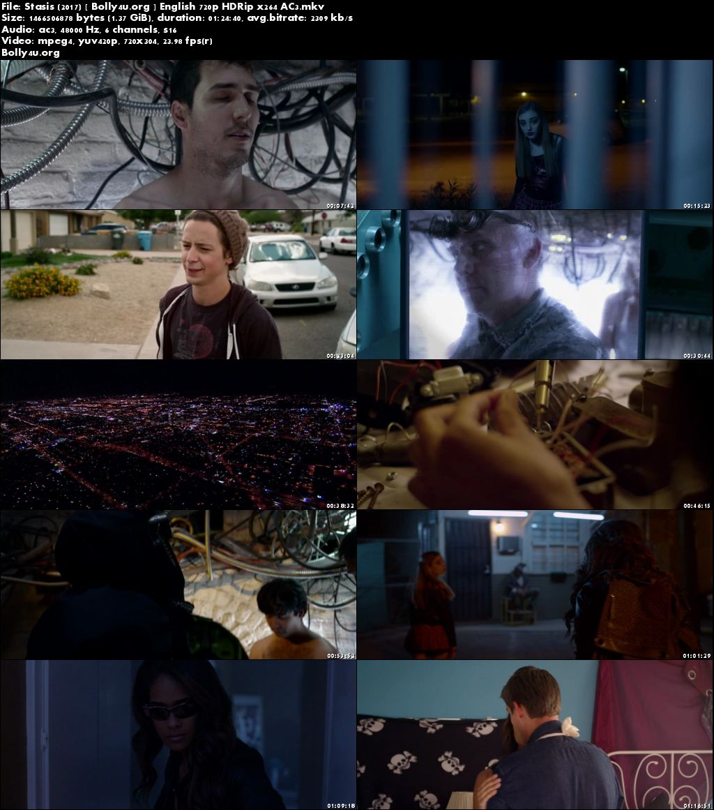 Stasis 2017 HDRip 250MB Full English Movie Download 480p
