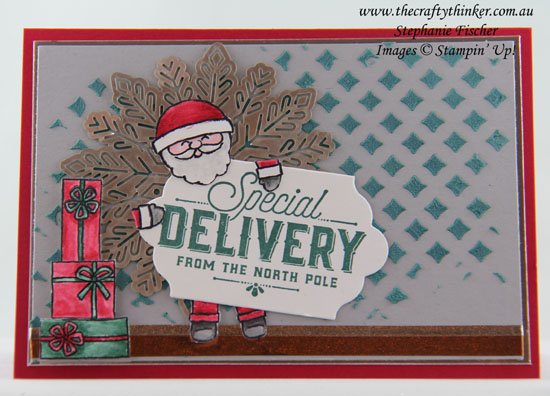 Pattern Party, Embossing Paste, Xmas, Cookie Cutter Christmas, Foil Snowflake, #thecraftythinker, Stampin Up Australia Demonstrator, Stephanie Fischer, Sydney NSW