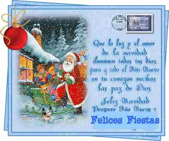 Ven a mi casa en esta blanca navidad querido amigo