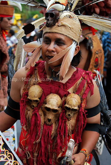 Dayak man from Kalimantan