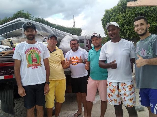 Vítimas de enchentes de São Sebastião do Umbuzeiro e Afogados da Ingazeira recebem doações dos Amparenses