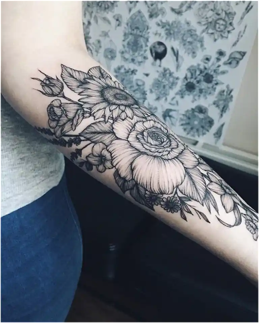 Inner and Outer Forearm Tattoo Ideas For Females