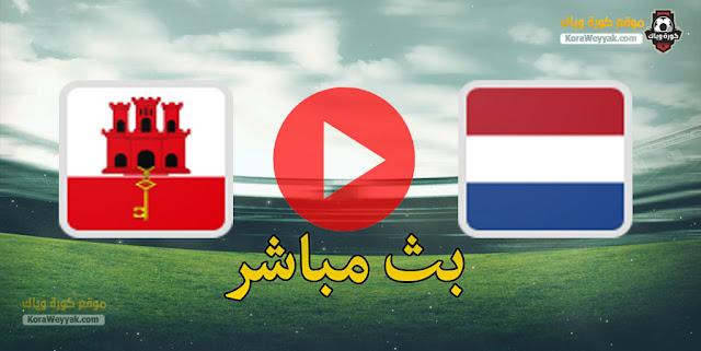 نتيجة مباراة هولندا وجبل طارق اليوم 30 مارس 2021 في تصفيات كأس العالم 2022