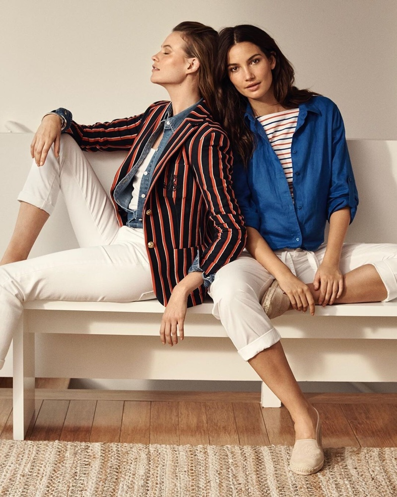 Behati Prinsloo and Lily Aldridge front Lauren Ralph Lauren summer 2019 campaign