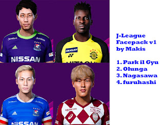 PES 2020 J-League Facepack by Makis