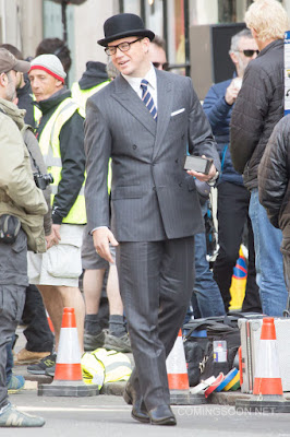 Colin Firth, Mark Strong, Taron Egerton, Kingsman, Channing Tatum, Halle Berry, Julianne Moore, Jeff Bridges, película, film, sastrería, Savile Row, Mr. Porter, Matthew Vaughan, James Bond,