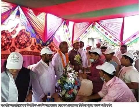 নওগাঁর আত্রাইয়ে নব নির্বাচিত এমপি'র পূজা মন্ডপ পরিদর্শন