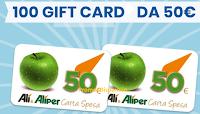 Logo ''Il pulito non va in vacanza'' e vinci 100 Card Ali&Aliper da 50€