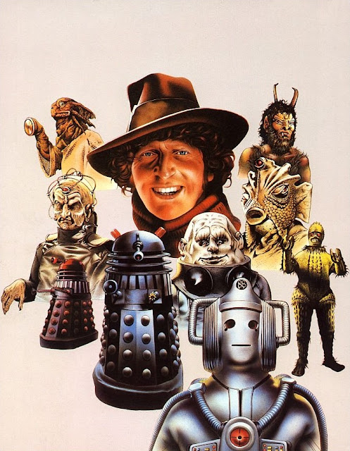 The Doctor Who Monster Book – Tom Baker surrounded by monsters