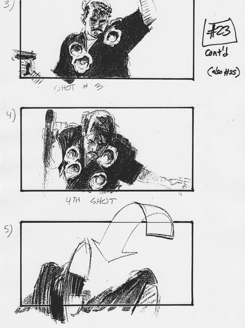 'Terminator 2: Judgement Day' Storyboards by Philip
