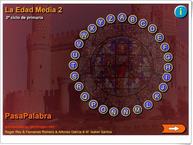 """Pasapalabra """"La Edad Media 2"""" (Ciencias Sociales de Primaria)"""