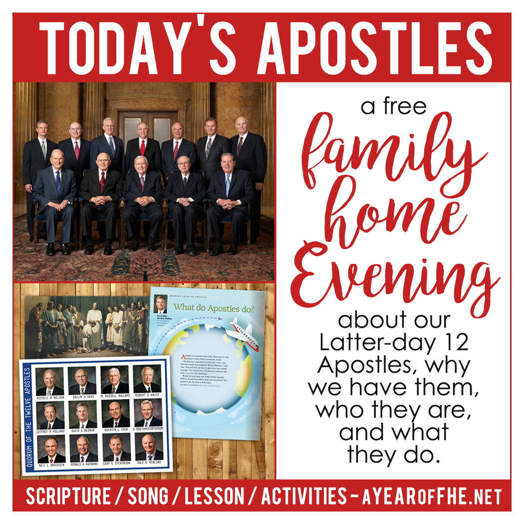 a year of fhe year 02 lesson 08 today s 12 apostles