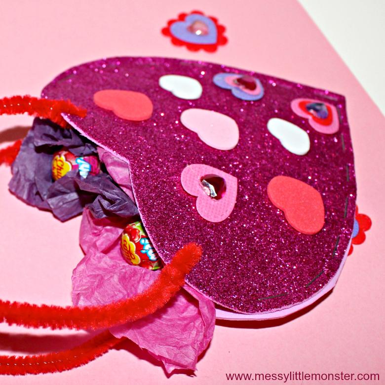 easy heart bag craft for kids