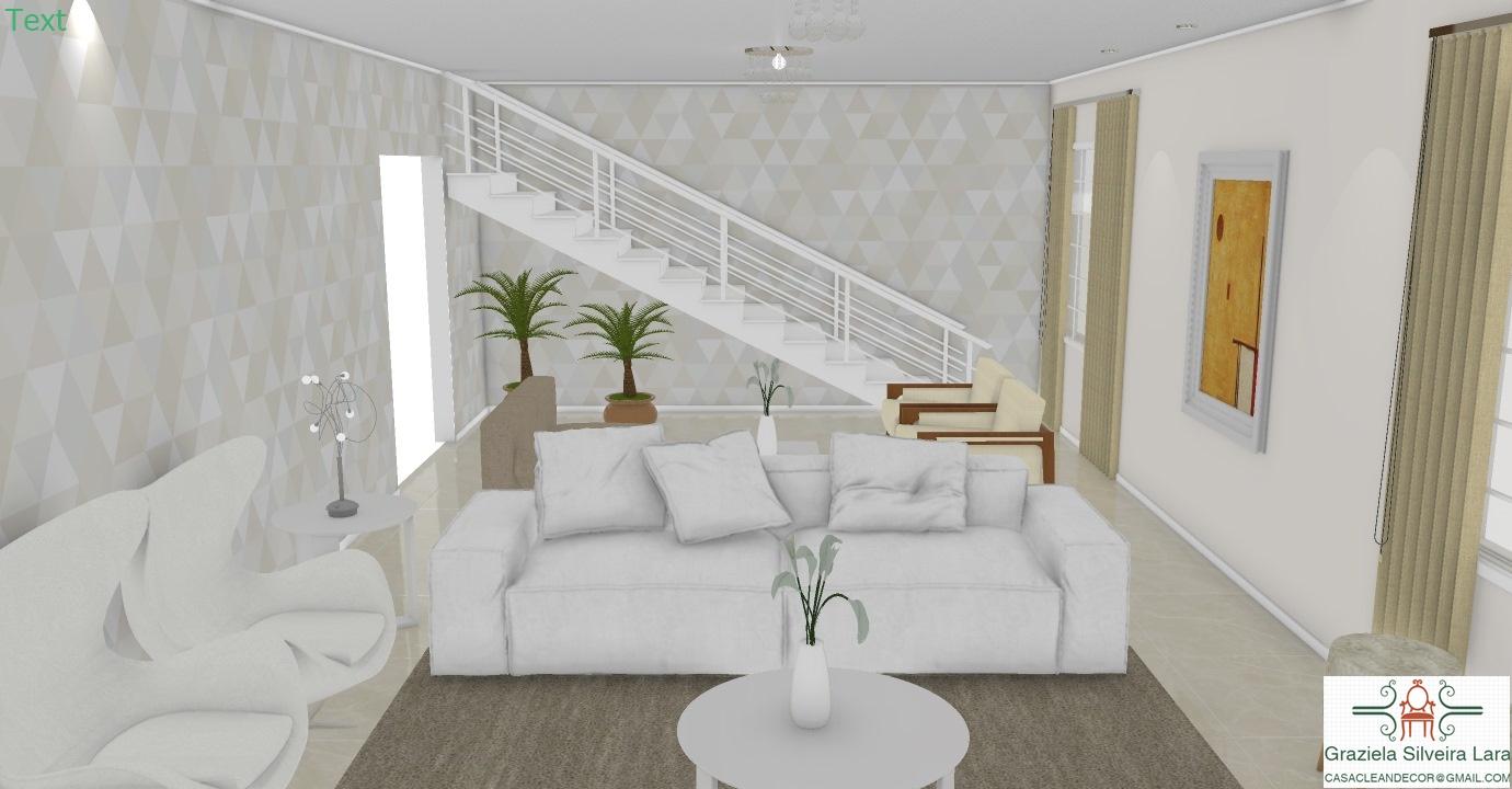 Construindo Minha Casa Clean Projeto De Salas Integradas Tv Estar  -> Fotos De Salas De Tv