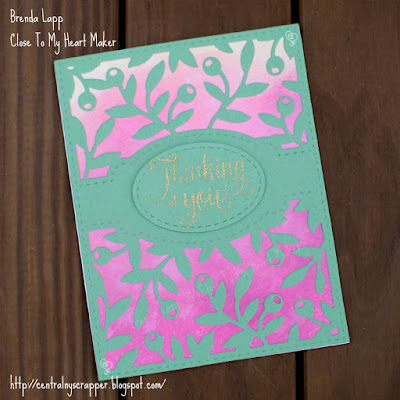 card created with Olive Branches Background & Distress Oxide™ Inks