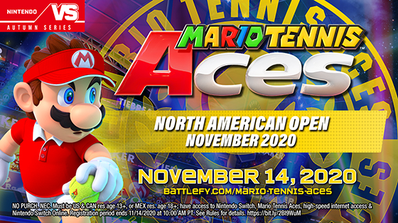 Mario Tennis Aces North American Open November 2020 online tournament