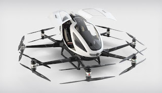 'Kereta terbang' bakal diuji ialah dron Ehang China
