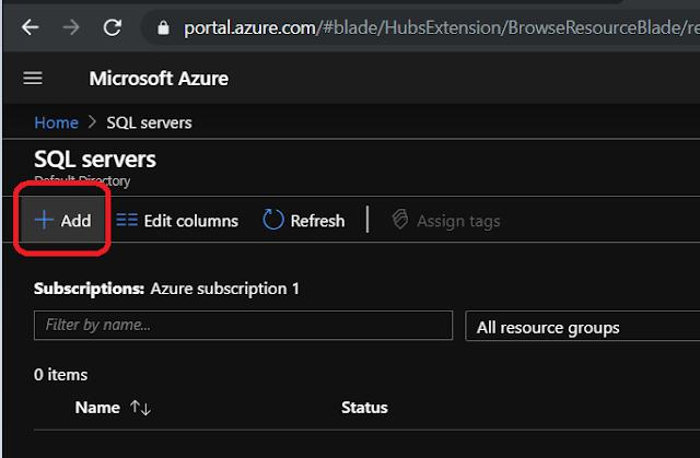 Adding SQL Server