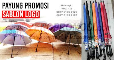 souvenir payung terbesar dimana kami menyediakan pembuatan Payung Promosi Sablon Logo, Payung Souvenir Tangerang,  Payung Promosi, Payung Golf, Payung Standart, Payung Lipat, Payung Souvenir Perusahaan, Payung murah, Payung grosir, sablon payung sesuai dengan keinginan anda