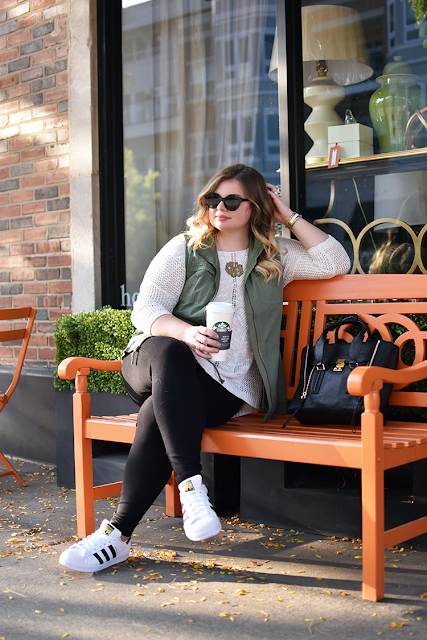 adidas superstars black and white for fall outfits merona military vest target style jcrew pixie pants old navy sweater love always monogram warby parker piper sunglasses starbucks latte fall outfit inspiration phillip lim 3.1