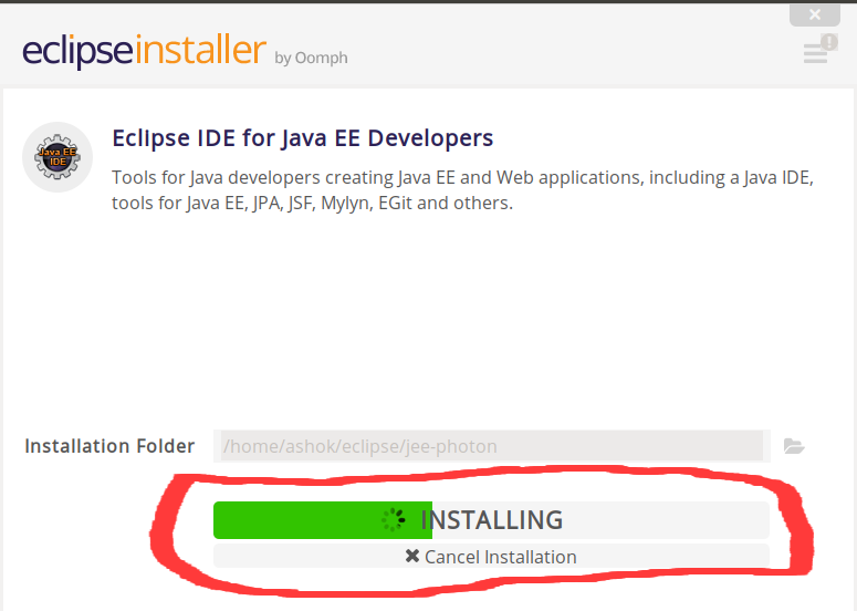 How to install eclipse IDE