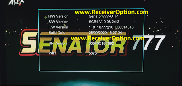 SENATOR 777 1506T NEW SOFTWARE WITH ECAST & DIRECT BISS KEY OPTION
