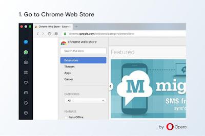 Instalar extensiones de Chrome en Opera