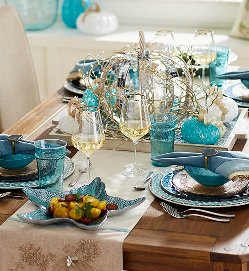 Coastal Thanksgiving Table Decor Ideas