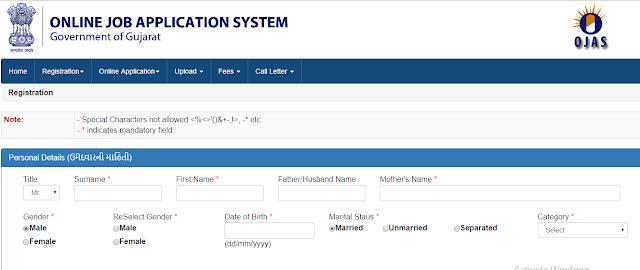 Ojas Registration