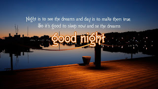 Good Night Wallpaper with motivational Quote