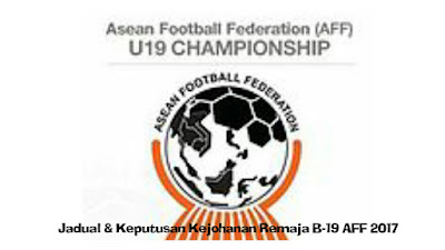 Jadual dan Keputusan Perlawanan Kejohanan Remaja B-19 AFF 2017