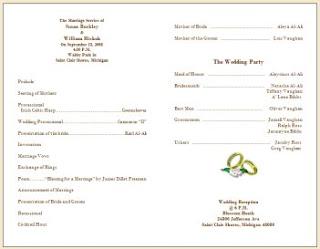 Wedding collection nowadays wedding program samples wedding program samples info for Wedding program info
