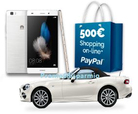 Logo Concorso ''Vincere non è mai stato così facile'': vinci gratis Huawei, buoni PayPal da 500 euro e Fiat Spider