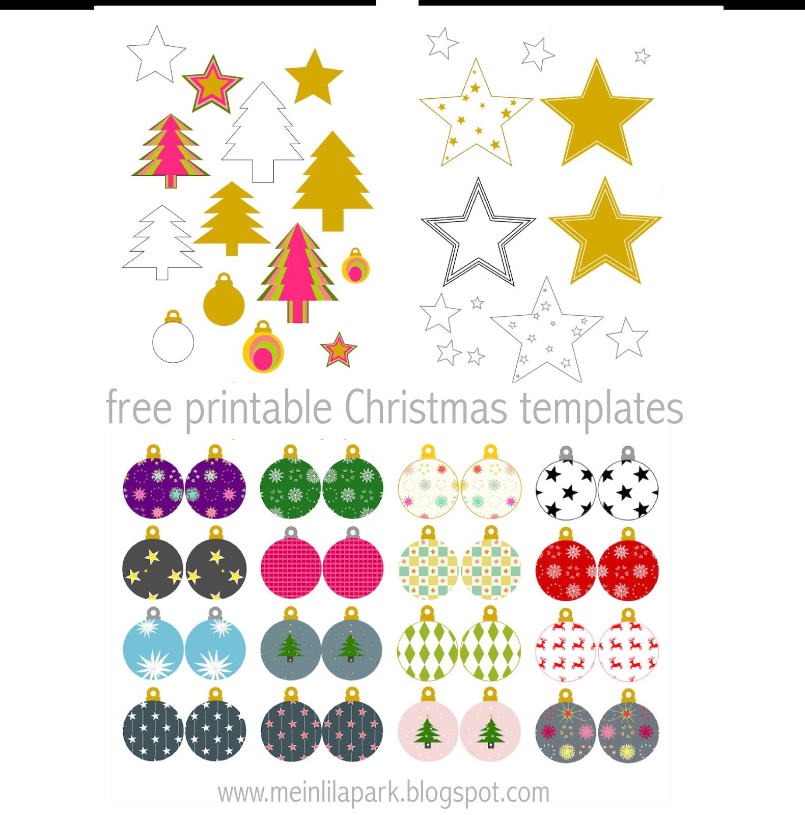 free printable christmas templates weihnachten diy. Black Bedroom Furniture Sets. Home Design Ideas