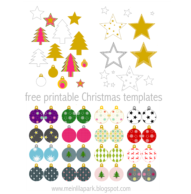 Free printable Christmas templates - Weihnachten DIY Bastelbogen - round-up