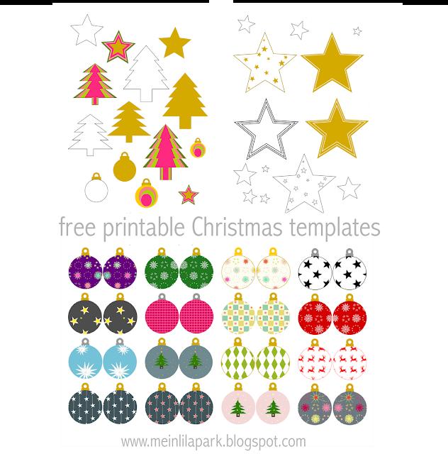 Free printable Christmas templates - Weihnachten DIY Bastelbogen - round-up