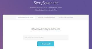 cara melihat story instagram melalui storysaver