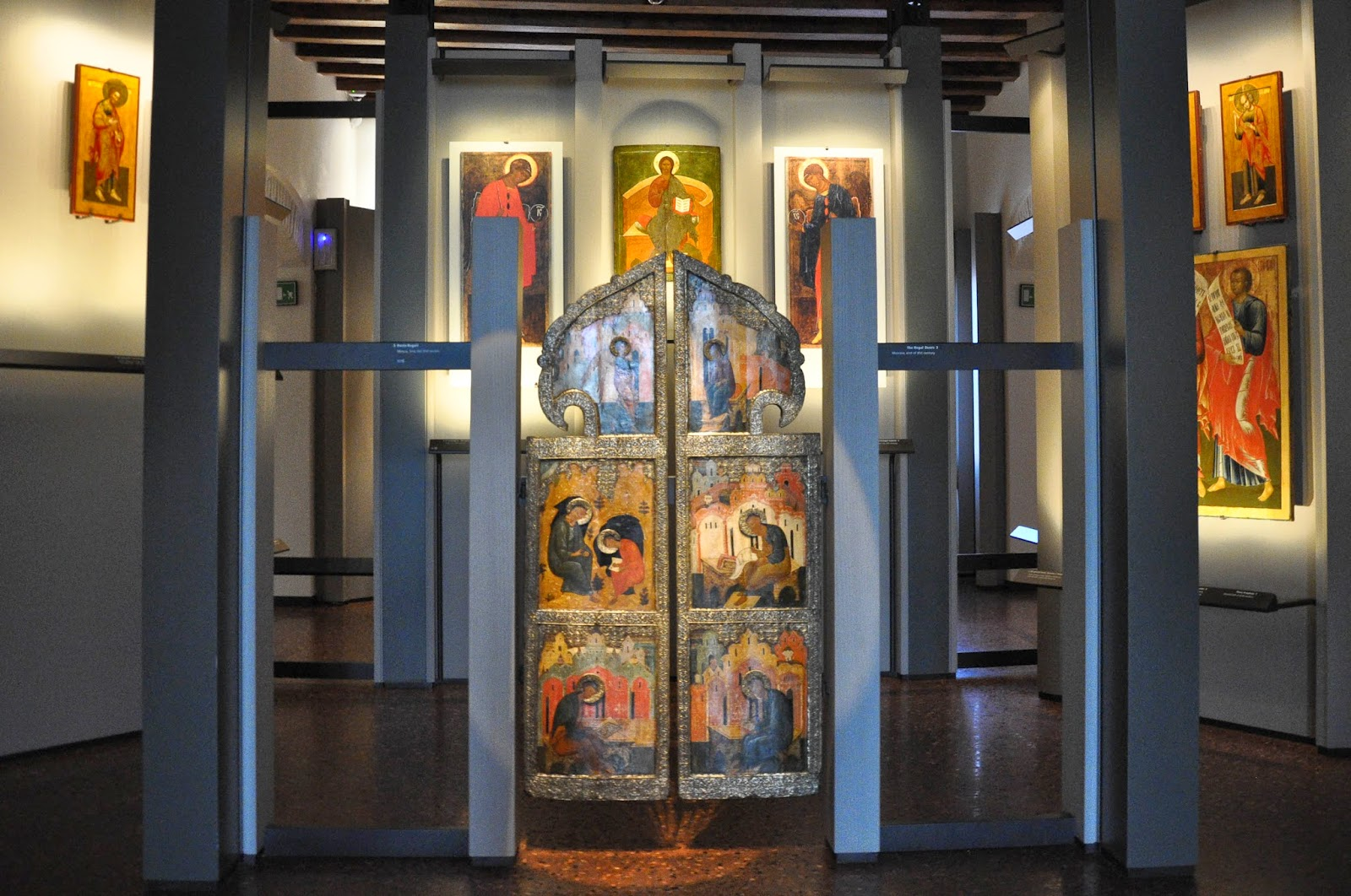The Regal Doors - part of a traditional Russian church iconostassis - dating to the 16th century, Gallerie d'Italia, Palazzo Leoni Montanari, Vicenza