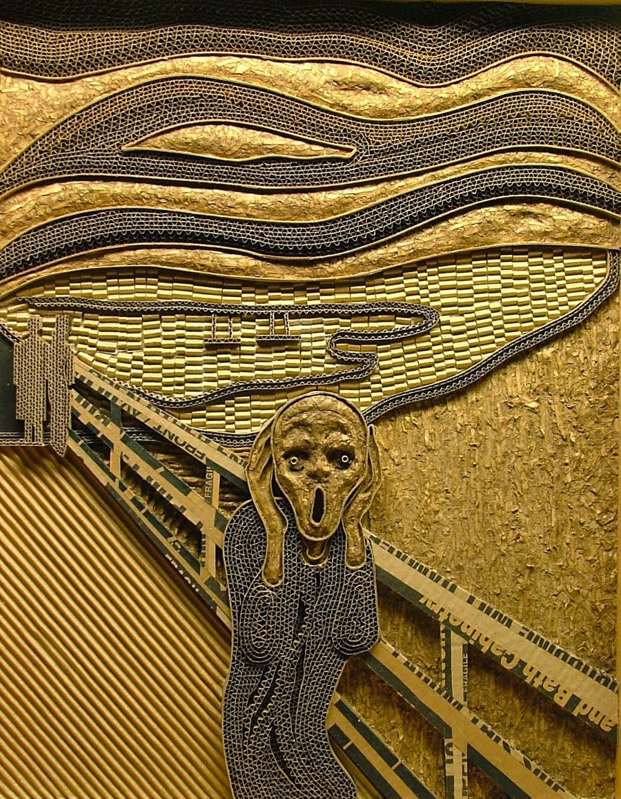 Simply Creative: Corrugated Cardboard Sculpture by Mark Langan