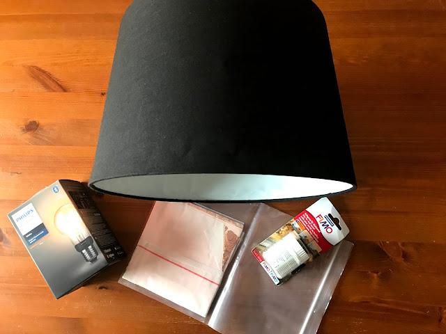 DIY Lampe mit Blattgold - Schirm, Anlegemilch, Blattgold