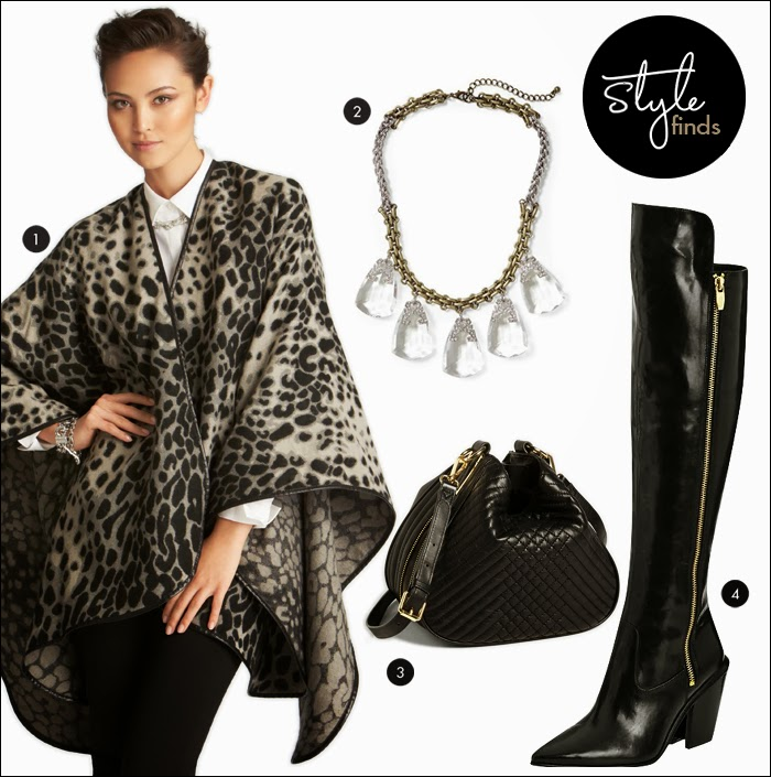 Wrap, Ann Taylor, OTK boots, vince camuto, nordstrom, piperlime, sale, statement necklace, fashion, style, what to wear fall
