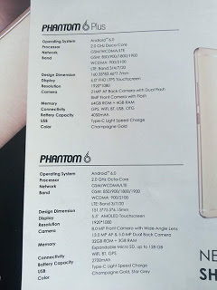 official Images and paper specs of the Phantom 6 and Phantom 6 plus.