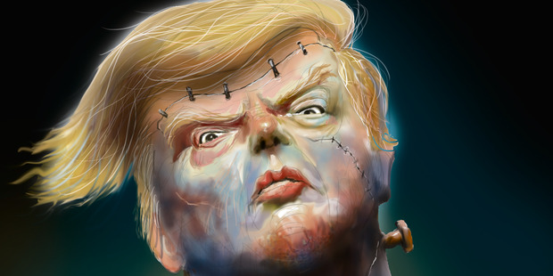 Image result for trump as monster