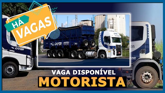 Transportadora Gafor abre vagas para motorista carreteiro