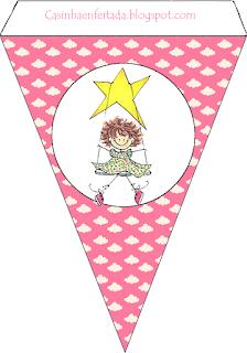 Banderines para Pijamada para imprimir gratis.